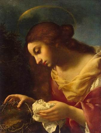 St Mary Magdalene [tenderly wiping the blood from the crown of thorns] by Carlo Dolci 1600s